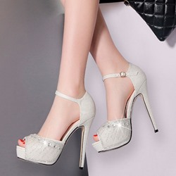 Shoespie Elegance Peep-toe Stiletto Heels
