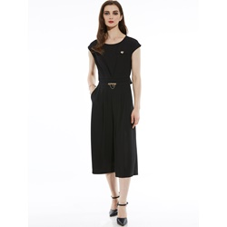 Slim Ankle Length Wide Legs Women's Jumpsuit