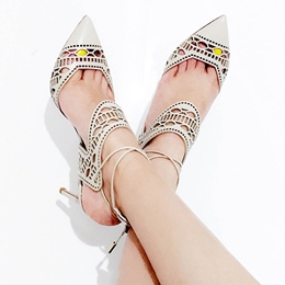 Shoespie Awesome Beige Cut Out Court Shoes
