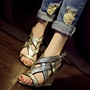 Shoespie Gorgeous Cross Wrap Open Toe Wedge Sandals