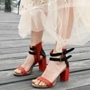 Shoespie Design Simply Chunky Heel Dress Sandals