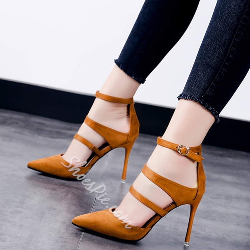 Shoespie Elegant Simply Stripes Stiletto Cheap Heels