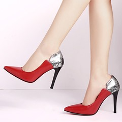 Shoespie Chic Office Wear Contrast Color Stiletto Heels