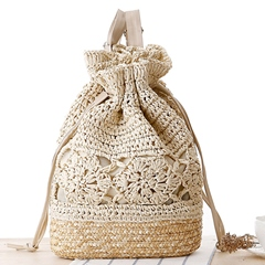 Shoespie Summer Holiday Straw Backpack