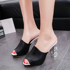 Shoespie Carved Heel Mule Shoes