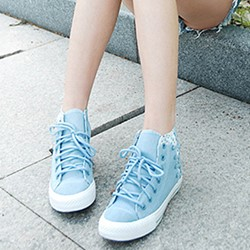 Shoespie Cute Flora Print Patched Canvas Shoes