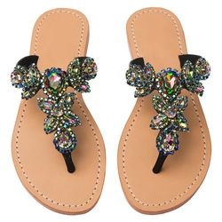 Shoespie Colorful Rhinestone Thong Beach Slippers