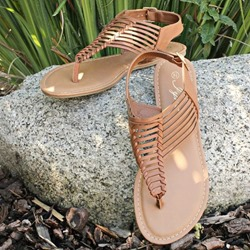 Shoespie Thong Buckle Sewing Flat Sandals