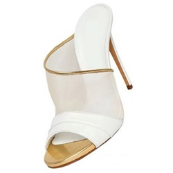 Shoespie White Trim Slide Sandals