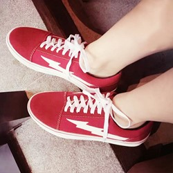 Shoespie Red Smart Street Canvas Shoes