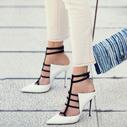 Shoespie Color Block Closed Toe Heel Sandal