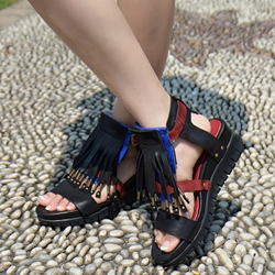 Shoespie Trendy Tassels Beach Flat Sandals