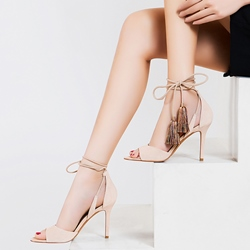 Shoespie Stylish Colorful Tassels Stiletto Heel Sandals