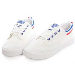 Shoespie Navy Stripes Canvas Shoes