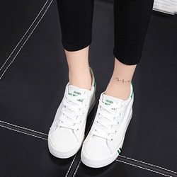 Shoespie Brisk Space Age Athletic Solid Color Canvas Shoes