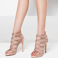 Shoespie Peep Toe Glitter Sandals