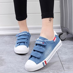 Shoespie Cute Velcro Canvas Shoes