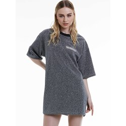 Mottled Letter Embroidery Women's Day Dress