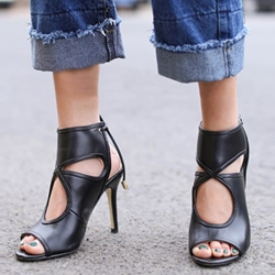 Shoespie Cute Plain Cut Out Back Toe Summer Booties