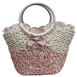 Shoespie Summer Knitting Straw Handbag