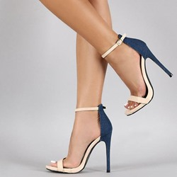 Shoespie Block Open Toe Heel Sandals