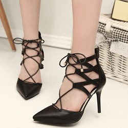 Shoespie Sexy Cross Strap Pointed-Toe Stiletto Heels