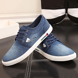 Shoespie Denim Threading Lace Up Men's Casual Shoes