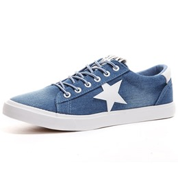 Shoespie Classic Denim Stars Men's Casual Shoes
