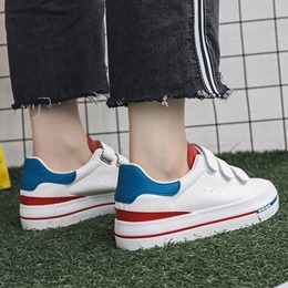 Shoespie Velcro White Sneakers