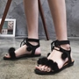 Shoespie Trendy Pompom Accented Flat Sandals