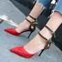 Shoespie Elegant Double Ankle Wrap Cheap Heels