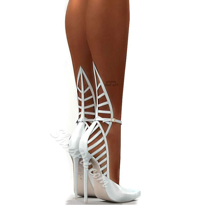 Shoespie Gorgeous Hollow Out Cage Ankle Wrap Stiletto Heels