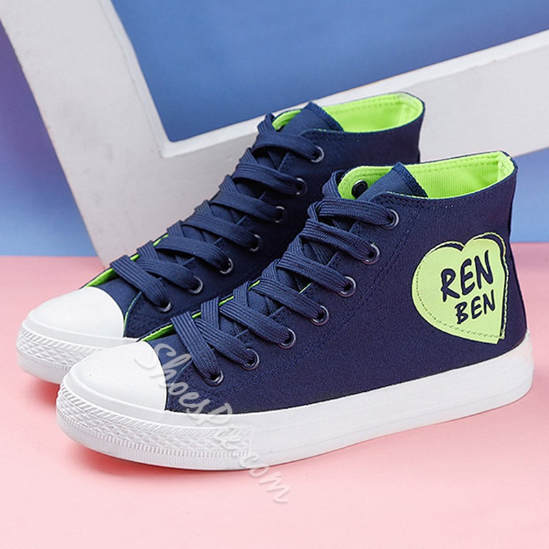 Shoespie High Upper Threading Canvas Shoes