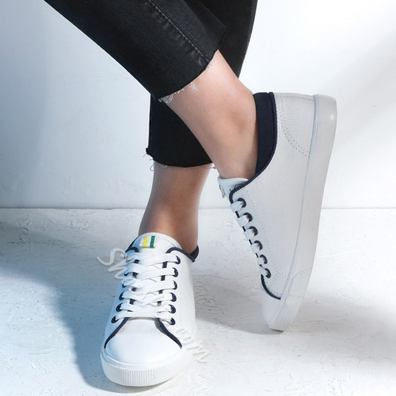 Shoespie Simple Lace Up Canvas Shoes