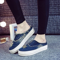 Shoespie Denim Naked Canvas Shoes