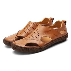Shoespie Cutout Slip On Men's Sandals