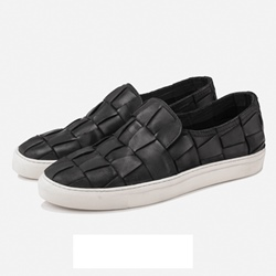 Shoespie Braid Featured Slip On Men's Sneakers