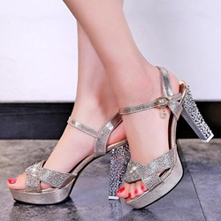 Shoespie Glittering Heel Sandals