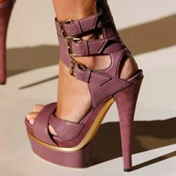 Buckle Platform Stiletto Heel Sandals