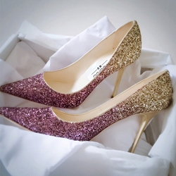 Shoespie Gradual Sequins Pointed Weding Stiletto Heels