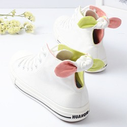 Shoespie Bowtie Flat Canvas Shoes