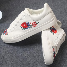 Shoespie Embroidered Casual Sneaker