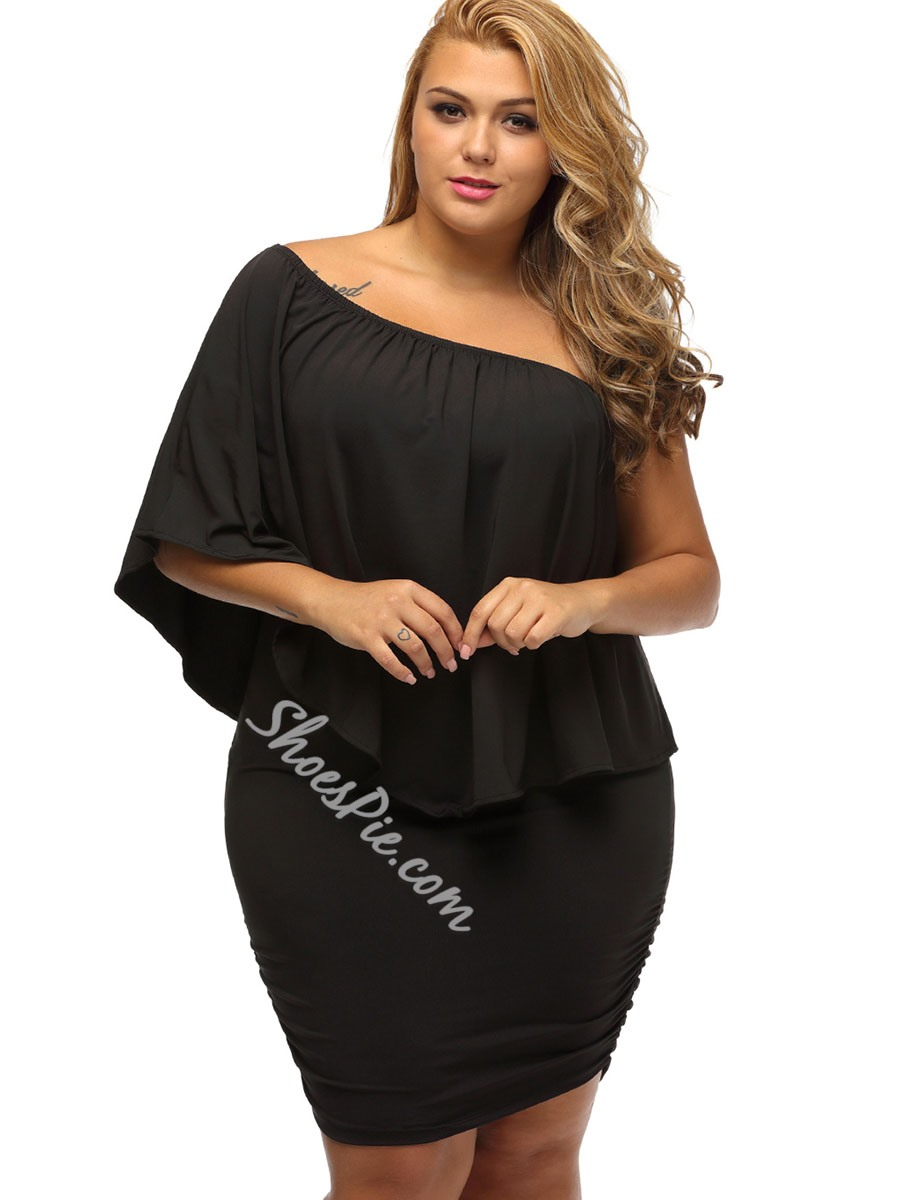 ShoespieHalf Sleeve Batwing Sleeve Bodycon Dresses