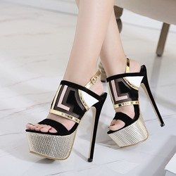 Shoespie Platform Slingbacks Heel Sandals