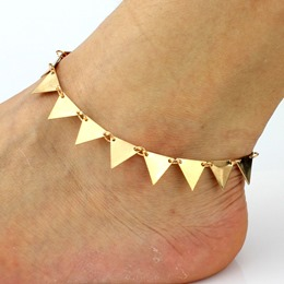 Shoespie Best Seller Punk Triangle Metal Anklet
