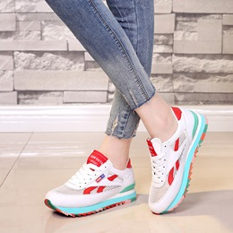 Shoespie Smart Contrast Color Mesh Fashion Sneakers