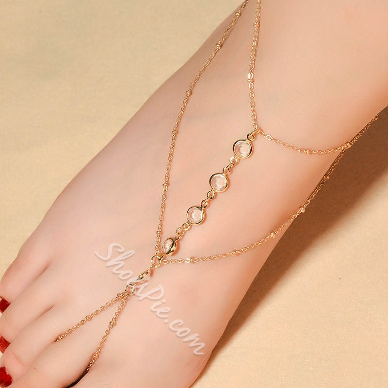 Shoespie Leisure Crystal Beads Women's Anklet