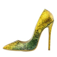 Shoespie Sexy Double color Stone Pattern Stiletto Heels