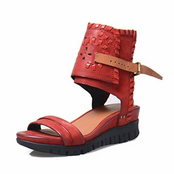 Shoespie Plain Buckled Cozy Flat Sandals
