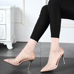 Shoespie Thread Net cloth Metal Buckles Stiletto Heels